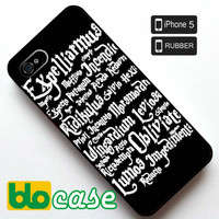 Harry Potter Magic Spells Iphone 5 Rubber Case
