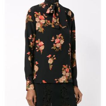 VALENTINO   Floral Neck-Tie Shirt   brownsfashion.com   The Finest Edit of Luxury Fashion   Clothes, Shoes, Bags and Accessories for Men & Women