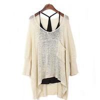 Womens Sweater Comfortable Lightweight Fashion Baggy Knit Pullover