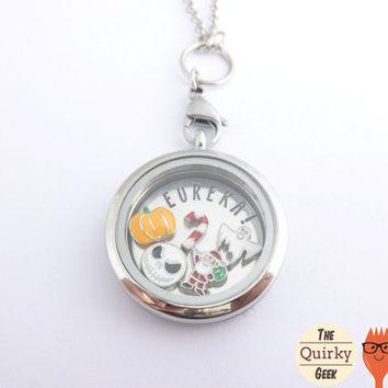 Nightmare Before Christmas Inspired Floating Locket Set