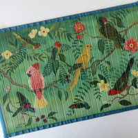 Tropical Birds Bamboo Placemats
