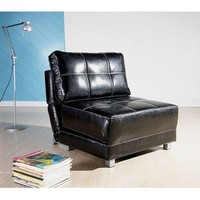 New York Black Convertible Chair Bed | Overstock.com