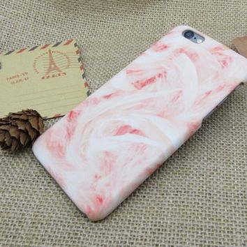Womens Pink Marble Best Protection iPhone 7 7 Plus & iPhone 6 6s Plus & iPhone 5s se Case Personal Tailor Cover + Gift Box-170928