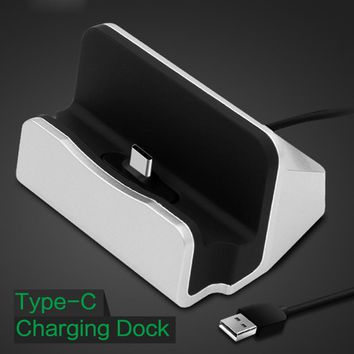 For Oneplus 5T Type-C USB Fast Sync Data Phone Charger Dock Stand Station Desktop Charging For Galaxy S8 Xiaomi Mi A1 Note 3