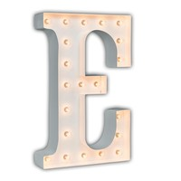 """24"""" Letter E Lighted Marquee Letters (White Gloss)"""