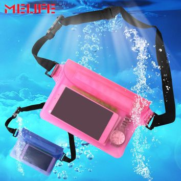 2019 Waterproof Swimming Bag PVC Drifting Diving Waist Bag Outdoor Beach Boating Underwater Phone Storage Pouch Swimming Bags