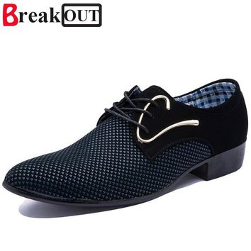 Break Out Men Oxfords for Men Dress Shoes Leather Business Breathable Lace up Summer S