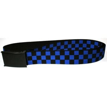 Chenier Checker - Black and Neon Blue Web Belt