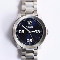 Nixon Corporal Blue Sun-Ray Face Stainless Steel Quartz  A346-1258  Men's Watch