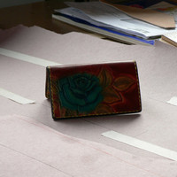 Sapphire Rose tooled leather credit card wallet