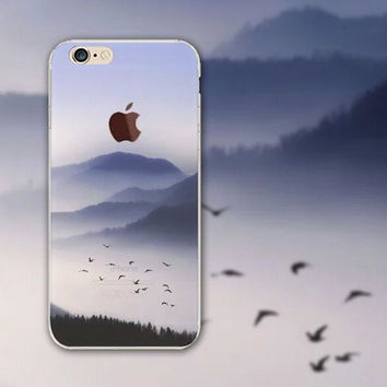 Remote Mountains iPhone 5S 6 6S Plus creative case + Gift Box-126