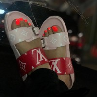 【Louis Vuitton】LV Print slippers