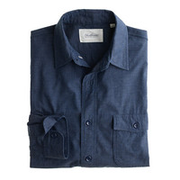 J.Crew Mens Shuttle Notes Indigo Top-Dyed Shirt