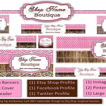 Etsy Shop Facebook Page Combo Package Banners Profile Pictures Avatar .jpg .png images graphic store design makeover business branding