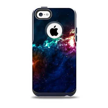 The Glowing Colorful Space Scene Skin for the iPhone 5c OtterBox Commuter Case