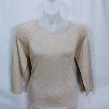 17275 Alya Luxe Metallic Crewneck Sweater Size XL