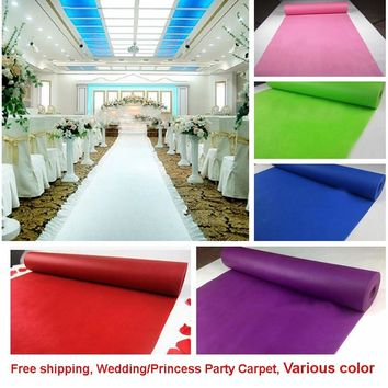 Wedding Party Carpet Rug Aisle Runner Decoration Nonwoven 80cmx10m 18colors 23097