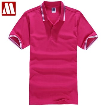 New Polo Shirt Men Short sleeve Cotton Casual Breathable Shirt Mens Turn-down collar shirts Men clothing