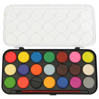 Best Promotion 21 Colored Watercolor Art Paint Set With Brush And Case For Artists DIY Painting School Kids Accessories
