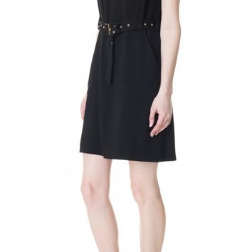 Tibi Savanna Crepe V-Neck Dress