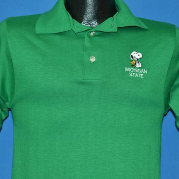 80s Michigan State Snoopy Polo Shirt Small
