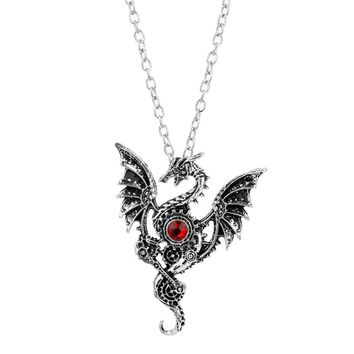 Fashion Game of Thrones A Song of Ice Fire Targaryen Dragon Necklace Gothic Accessories Jewelry Necklace for Men Women Cosplay