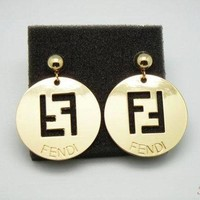 FENDI Women Fashion Plated Stud Earring