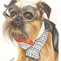 A4 (8.3 x 11.7) Detailed hand drawn coloured pencil portrait of your pet in