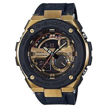 Casio Mens G-Shock G-Steel Watch - Ana-Digi - Gold & Black Dial - 200m - LED