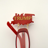 Red Trump Train Magnetic Eyeglass Holder