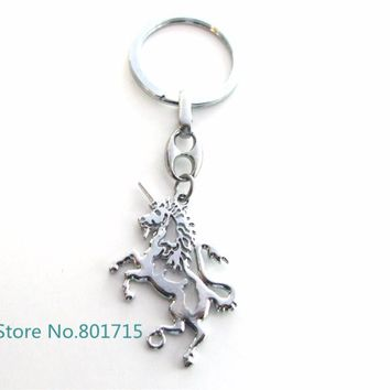 100pcs Fashion Rectangle horses Charm Pendant Keychain Key Ring Chain Men Accessories Women Jewelry Gifts Xmas Party  KB0013