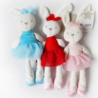 5color 42cm cute kids Plush Rabbit Toys Animals Soft Stuffed Dolls Cartoon TV & Movie Toy Educational For Girls