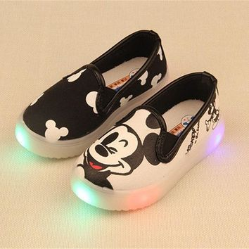 Spring/Summer 3 Colors Baby Girls Boys Anime Hello Kitty Sneakers Canvas Casual Shoes