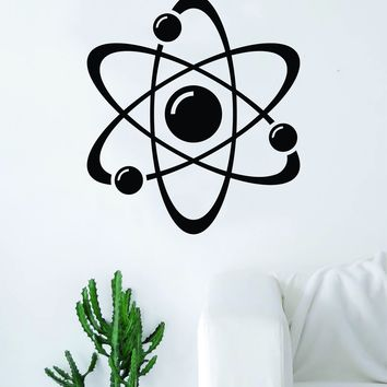 Science Atom V3 Design Decal Sticker Wall Vinyl Art Home Room Decor Teacher School Educational Classroom