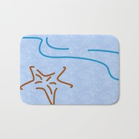 The Beauty of Lines Part III Bath Mat by Texnotropio
