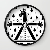 Seven Buttons Unicorn Wall Clock by That's So Unicorny