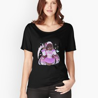 'Magic Girl Violet!' Women's Relaxed Fit T-Shirt by cherrycheezy
