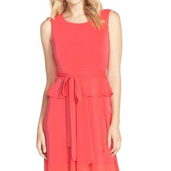 Women's BCBGMAXAZRIA 'Lissa' Stretch Knit Peplum Dress,