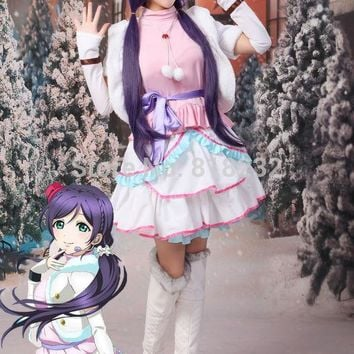Love Live School Idol Project Snow Halation Nozomi Tojo Uniform Dress Outfit Anime Cosplay Costumes