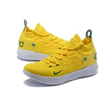 Nike Zoom KD 11 Yellow White Seattle Storm PE - Best Deal Online