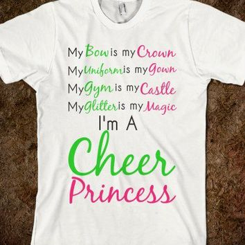 Cheer Princess Tee - Like Skreened.com on Facebook and get a 10% off discount!