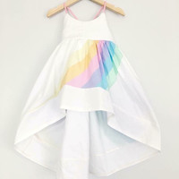 Pleiades Handmade Pastel Rainbow Dress *Rental*