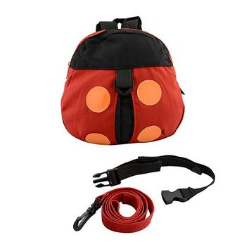 Toddler Backpack class Newborn Ladybird Baby Anti-lost Belt Bag Adjustable Strap Leashes Harness Baby Learning Walk Accessories Toddler Leash Backpack AT_50_3