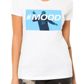 The Hashtag Mood Tee in White