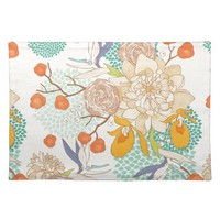 Peony Flower Pattern Placemat
