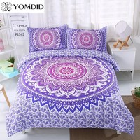 Mandala Flower Bedding Set Twin Full Queen King Size 3pcs Floral Pattern Duvet Cover pillowcase set Bohemian Bedclothes Bed set