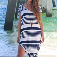 Only One Striped Knotted Maxi Dress