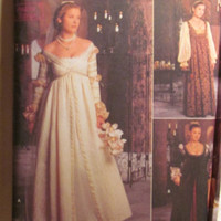 SALE Uncut Simplicity Sewing Pattern, 8735! 4-6-8 Small/Medium/Teens/Jr's/Women's/Misses/Renaissance/Medieval/Victorian Dresses/Princess/Que
