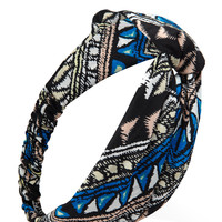 Tribal Print Knotted Headwrap