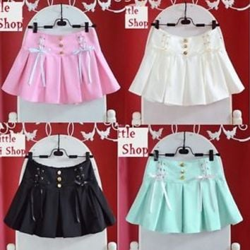 Trendy Sweet Cute Kawaii classical Punk Gothic Mini shorts Skirts *4 colors*